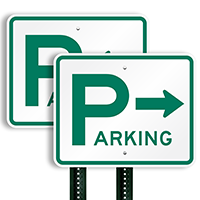 Parking Signs (arrow pointing right)