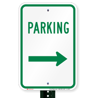 Parking Signs (right arrow)