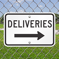 Deliveries Signs (right arrow)