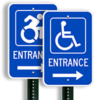 Entrance Handicapped Sign