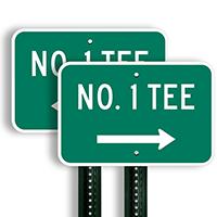 No. 1 Tee Signs (right arrow)