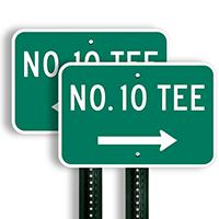 No. 10 Tee Signs (right arrow)