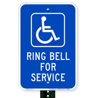 RING BELL FOR SERVICE Signs