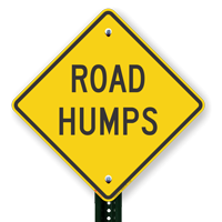 Road Speed Hump Signs