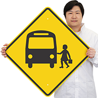 School Bus Entance Symbol Signs