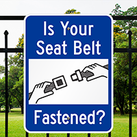 Seat Belt Fastened Signs