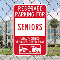 Reserved Parking For Seniors Signs