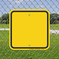 Write-On Signs Blank With Preprinted Border