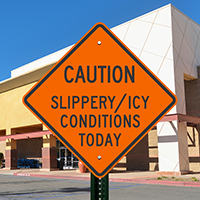 Slippery / Icy Conditions Caution Signs