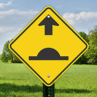 Speed Bump Ahead Graphic Signs