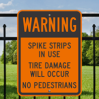 Spike Strips In Use Tire Damage Signs