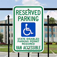 Washington Reserved Parking, Van Accessible Signs