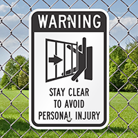 Warning Automatic Gate Signs