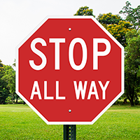 Stop All Way Reflective Aluminum STOP Signs