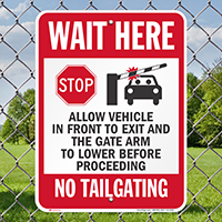 Stop Allow Vehicle in Front To Exit Sign