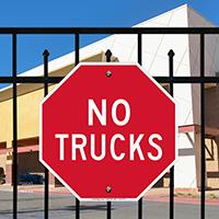 Stop, No Trucks Signs