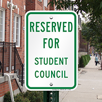 Reserved For Student Council Signs