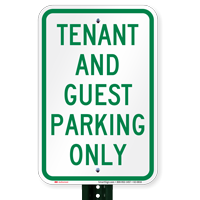 Tenant And Guest Parking Only Signs