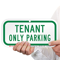 Tenant Only Parking Supplemental Parking Signs
