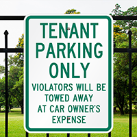 Tenant Parking Violators Towed Signs