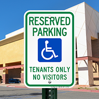 Tenants Reserved Parking Signs (With Graphic)