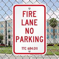 Texas Fire Lane No Parking Signs