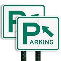Directional Parking Sign (arrow pointing top left)