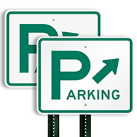 Aluminum Directional Parking Sign