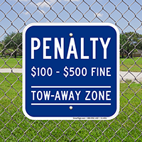 Tow Away Zone, Virginia Handicap Supplementary Signs