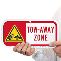 Tow-Away Zone Supplemental Parking Signs