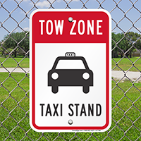 Tow Zone Taxi Stand Signs (With Graphic)