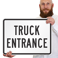 Truck Entrance For Driveway Signs