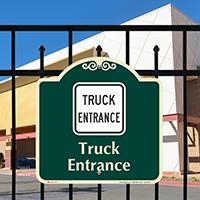 Truck Entrance Signature Sign
