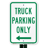 Truck Parking Only At Left Parking Signs