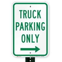 Truck Parking Only At Right Parking Signs