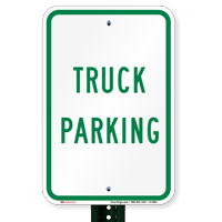 TRUCK PARKING Truck Signs