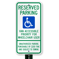 Tennessee Reserved Parking, Van Accessible Signs