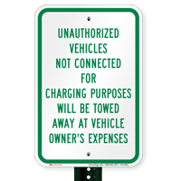 Unauthorized Vehicles Tow Away Signs