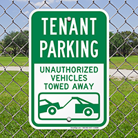 Tenant Parking Unauthorized Vehicles Towed Signs