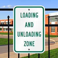 Loading And Unloading Zone Aluminum Reserved Parking Signs