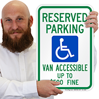West Virginia Reserved Parking, Van Accessible Signs