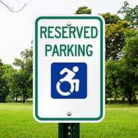 Reserved Parking Signs With Modified ISA Symbol