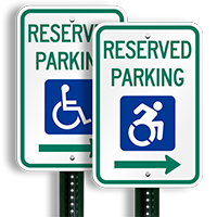 Reserved Parking Right Arrow Signs New ISA Icon