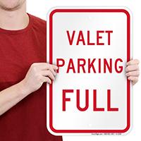 VALET PARKING FULL Signs