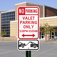 No Parking - Valet Parking Only Signs