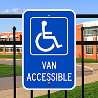 Van Accessible Handicapped Signs