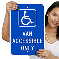 Van Accessible Only Handicap Parking Signs