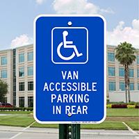 Van Accessible Parking In Rear Handicap Parking Signs