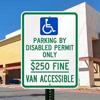 Delaware Reserved ADA Parking, Van Accessible Signs