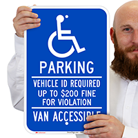 Minnesota Accessible Parking, Vehicle ID Required Signs